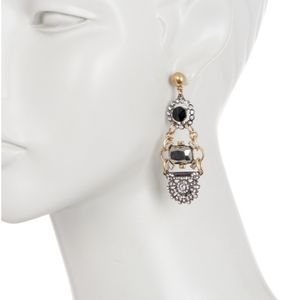Olivia Welles Crystal Trapeze Earrings
